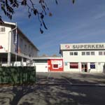 O podjetju SUPERKEM d.o.o. - Upravna zgradba podjetja SUPERKEM d.o.o., trgovina, skladišče in mešalnica
